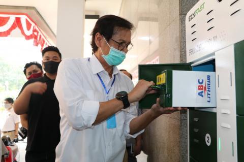 Pertama Kali, Kementerian ESDM Perkenalkan Stasiun Penukaran Baterai Kendaraan Listrik